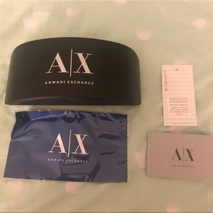 Armani Exchange Authentic Hard Glasses Case